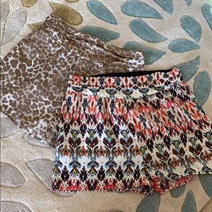 Bundle pack - Aqua polyester shorts